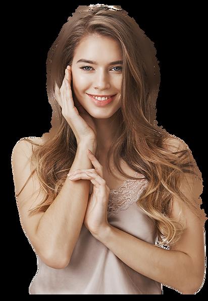 אישה עם שיער בריא
