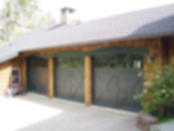 Charcoal carriage house garage doors