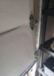 Damaged garage door cable