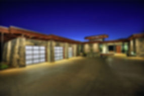 Contemporary frosted glass and aluminium garage door