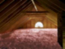 Blown in loose-fill fiberglass insulation