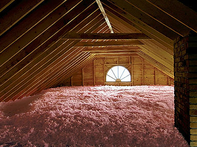 Blown in loose-fill fiberglass insulation