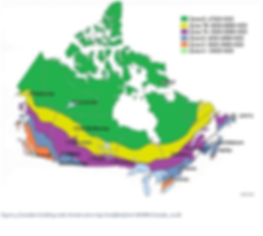 Canadian climate zone map