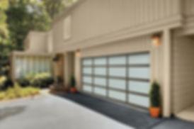 Modern double garage door