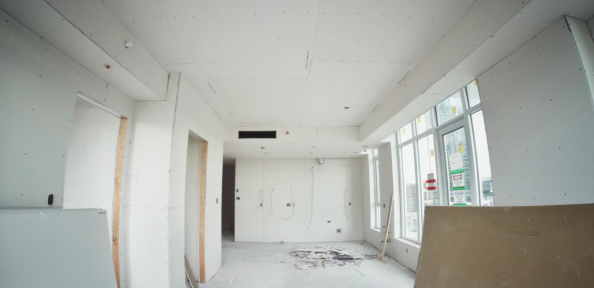 Post Drywall Installation Room