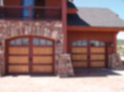 Wooden carriage style garage doors
