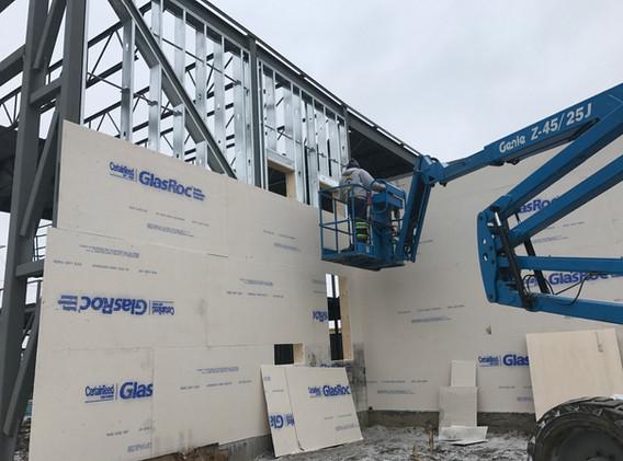 Industrial Steel Stud Framing