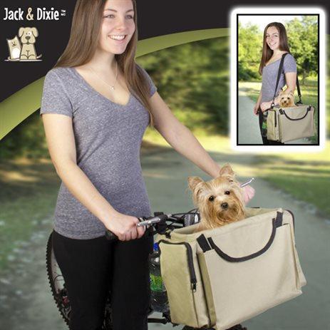 Jack and Dixie Pet Bike Basket