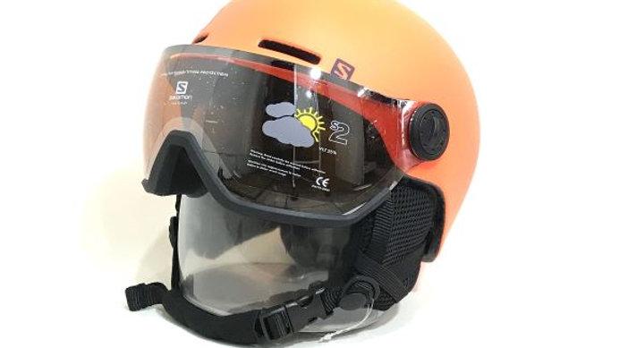 Salomon   子供用ヘルメット /  GROM VISOR    Flame   サイズ  KM