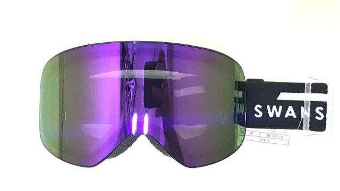 SWANS   190-MDH ブラック:眼鏡対応 パープルミラー×グレー レンズ
