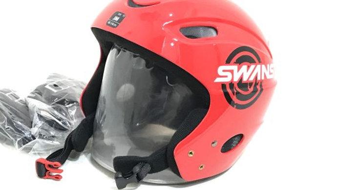 SWANS   スキー・スノーボード用ヘルメット /  H-50    Red  サイズ   JM
