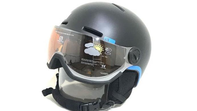 Salomon   子供用ヘルメット /  GROM VISOR   Black    サイズ  KS・KM