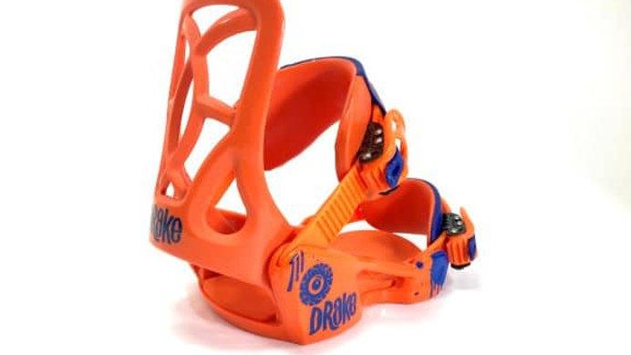 DRAKE  BINDING LF  orange   XS  size    /  ジュニア・キッズのスノーボードビンディング