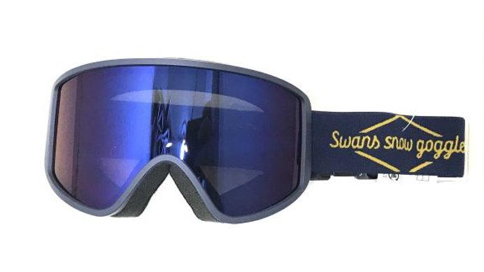SWANS   180-MDH ネイビー:眼鏡対応 ブルーミラー×グレー レンズ