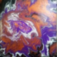 Copper & Purple _#fluidart #paintpouring