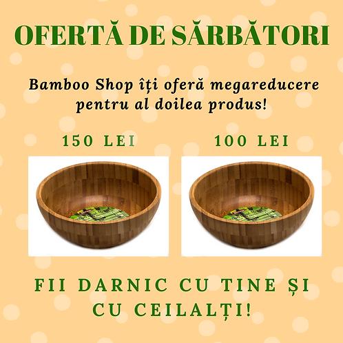 Bol din lemn de bambus (ofertă la al doilea produs cumpărat)