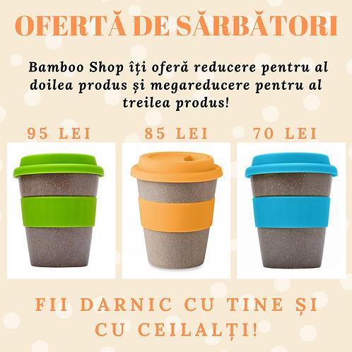 Căni din fibre de bambus (ofertă la al doilea și al treilea produs cumpărat)