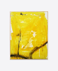 Untitled (Yellow #1) 50x40 cm acrylic and spray paint on canvas - for sales and inquiries  info@filiperealmarinheiro.com