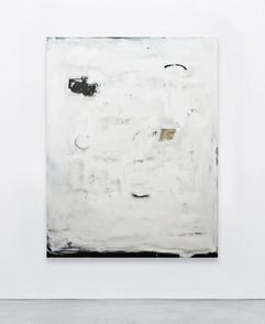 Untitled (atrás dos tempos vem tempos e outros tempos hão-de vir), 2020  House paint, acrylic, spray, silicone and collage on canvas   146x115 cm