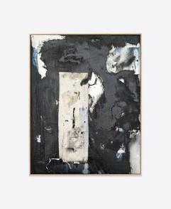 Untitled (black) 50x40 cm acrylic and spray paint on canvas - for sales and inquiries  info@filiperealmarinheiro.com