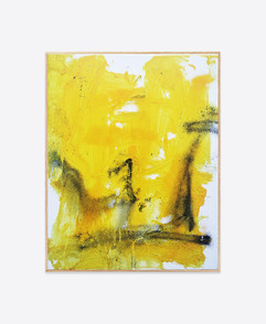 Untitled (Yellow #2) 50x40 cm acrylic and spray paint on canvas - for sales and inquiries  info@filiperealmarinheiro.com