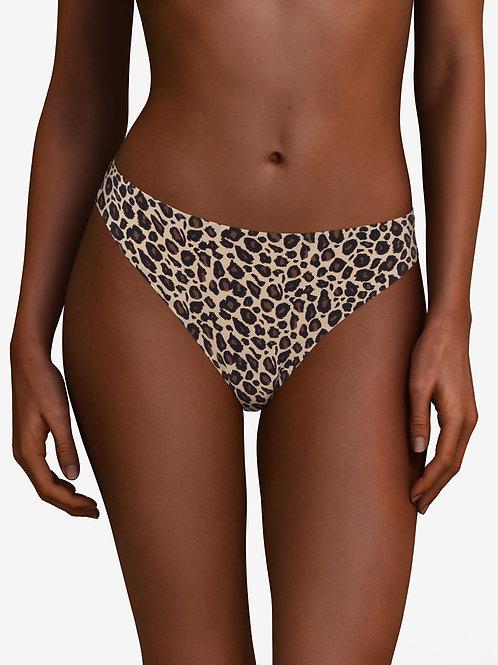 Soft Stretch Thong - Leopard
