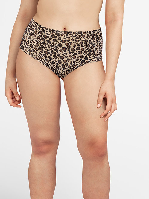 Soft Stretch High Waist Brief - Leopard Print