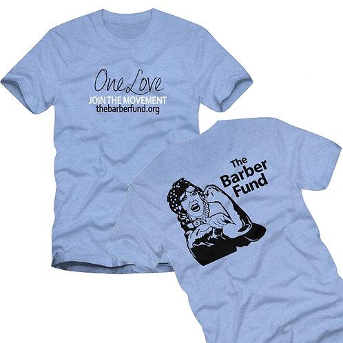 """Vintage One Love"" T-Shirt - Heather Blue"