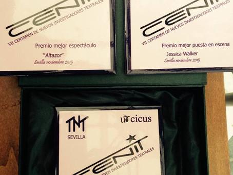 Emotiva entrega de los 3 premios del CENIT, para ALTAZOR