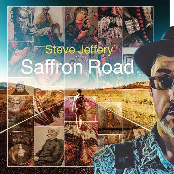Album Cover for Saffron Road by Steve Jeffery