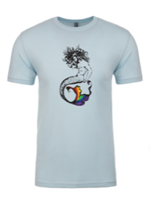 UNISEX CREW- Merman Rainbow Light Blue