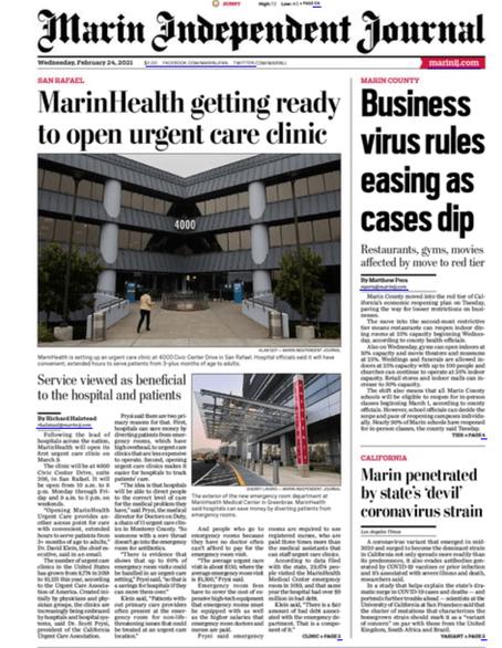 Marin Health Urgent Care Project