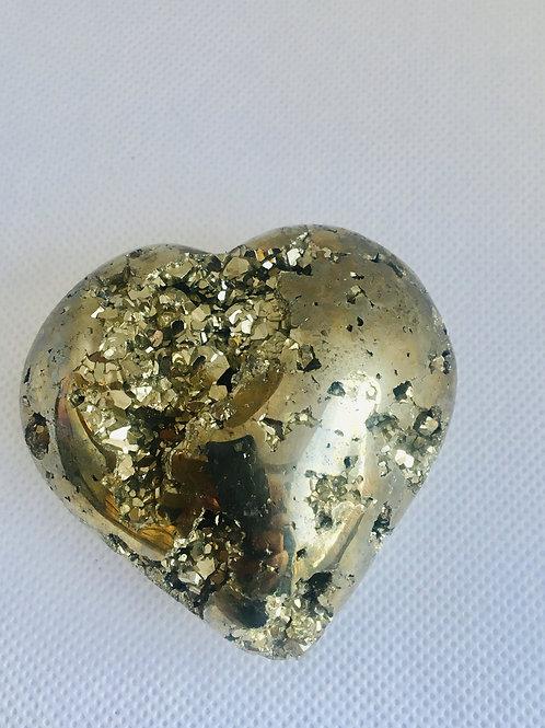 Heart Shaped Pyrite Druzy