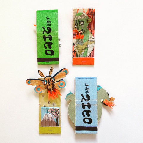 Matchbox monsters by Natalie Cartwright and Kiera Lofgreen.