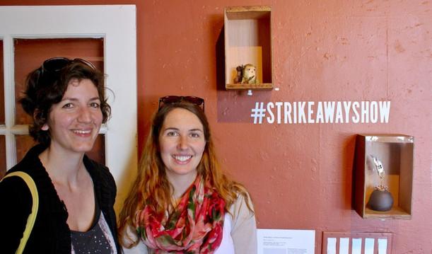 Alicia & Courtney installing StrikeAway.