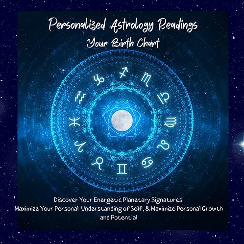 Astrology Reading, Birth Chart, Natal Chart Reading