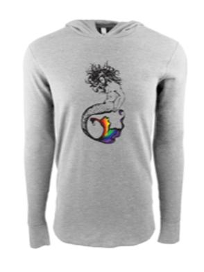 UNISEX THERMAL HOODY- Merman Rainbow
