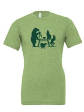 UNISEX CREW-Picnic Table Green