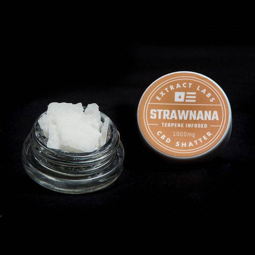 Extract Labs 1000mg Isolate Shatter Strawnana