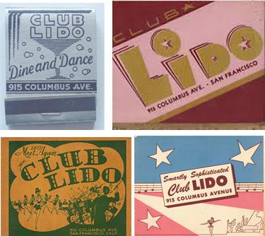 Club Lido matchbooks