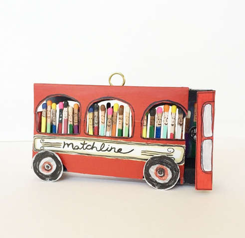Matchbox bus by Kelly Autumn.