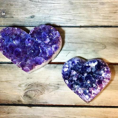 Heart Amethyst Druzy