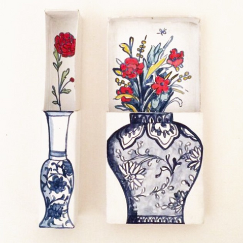Matchbox Vases by Molly Hatch.