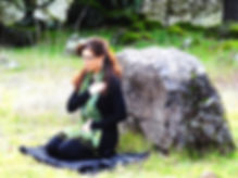 Gina Jackson Meditating in Field
