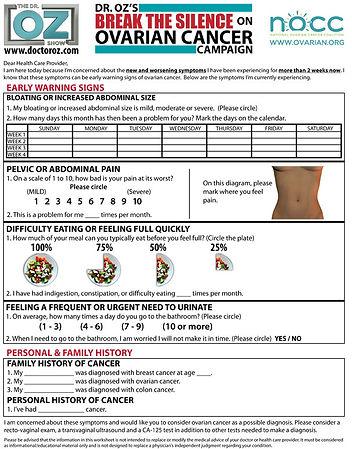 Ovarian-Cancer silent killer DR. OZ 2011