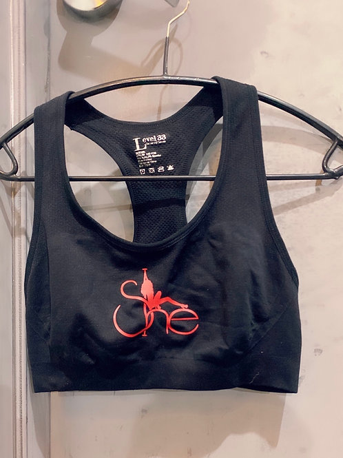 SHE Black Sports Bra