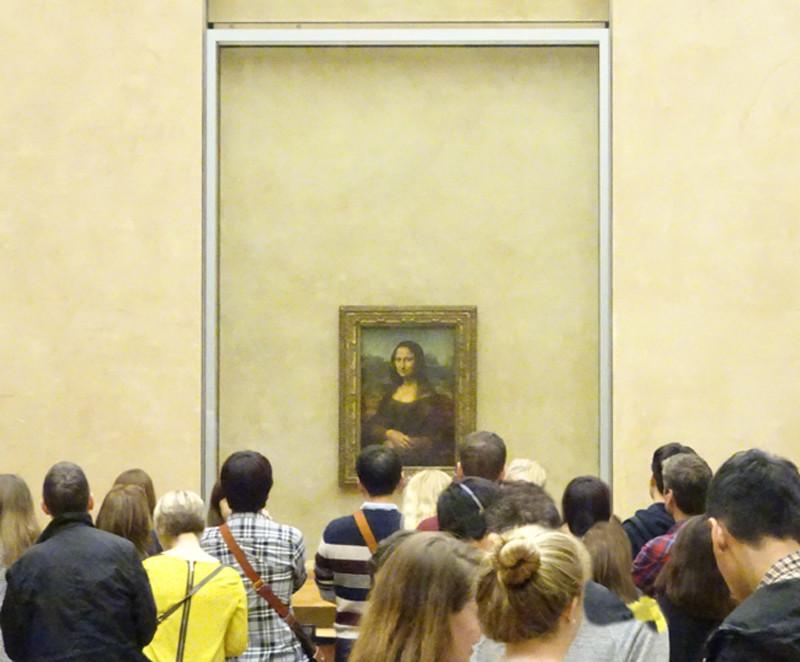Da Vinci's Mona Lisa at the Louvre in Paris