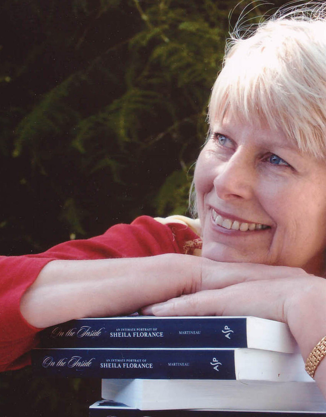 Helen Martineau - Portrait with books