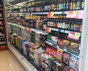 Beers, spirits and wines at off licence in Amber Service Station Fermoy