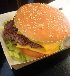Fresh 100% Irish Beef Burgers at Hillbilly's Family Restaurant at Amber Fermoy